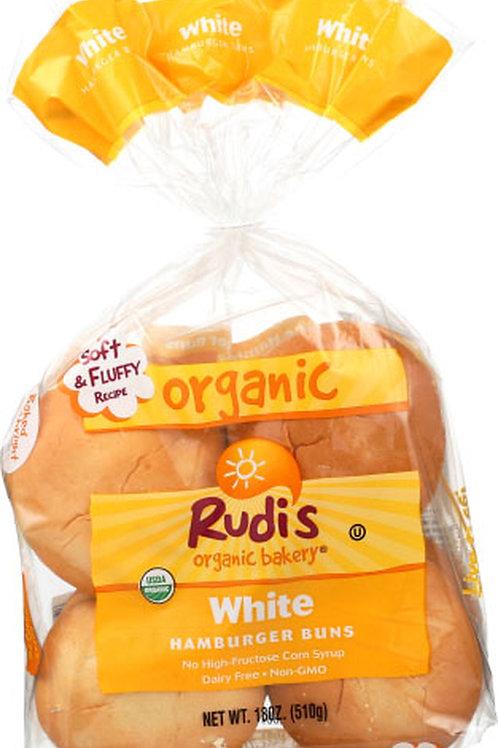 Rudis Organic White Hamburger Buns