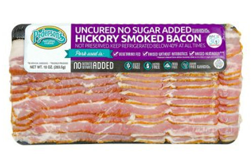 Pedersons Uncured No Sugar Added Hickory Smoked Bacon