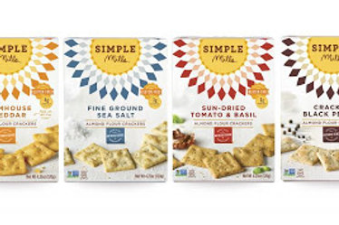 Simple Mills Almond Flour Crackers GF - 4 Flavor Options