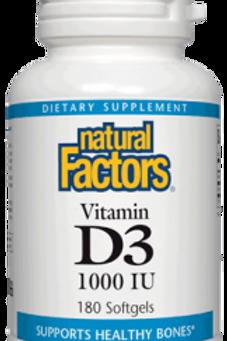 Natural Factors Vitamin D3 10,000 IU