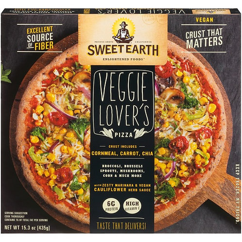 Sweet Earth Organic Veggie Lovers Vegan Pizza