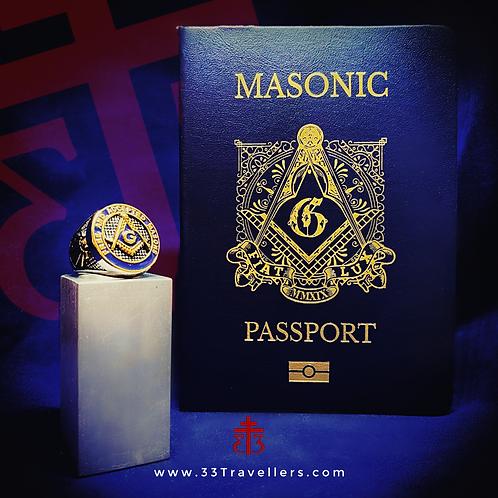 3 Masonic Passports and a S/S Blue Lodge Ring