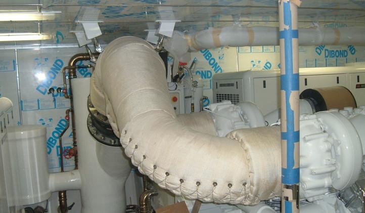 White Cloth Blanket Install