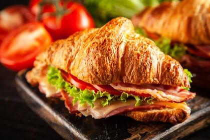 Ham & Cheese on Croiassant