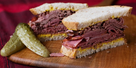 Smoked meat on Rye