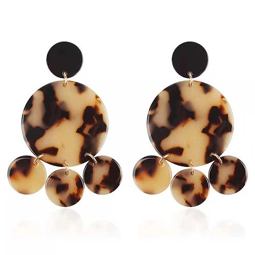 AFRICA EARRINGS BEIGE