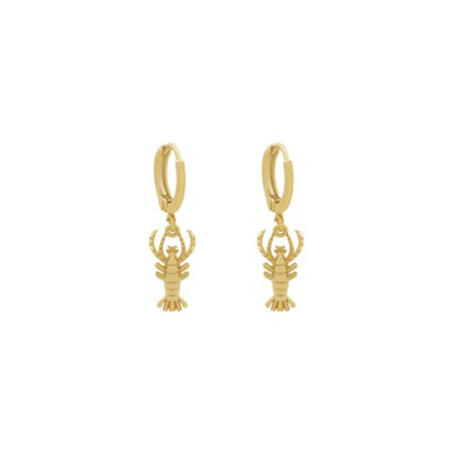 LOBSTER CHARM EARRING GOLD