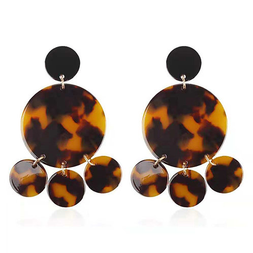 AFRICA EARRINGS BROWN