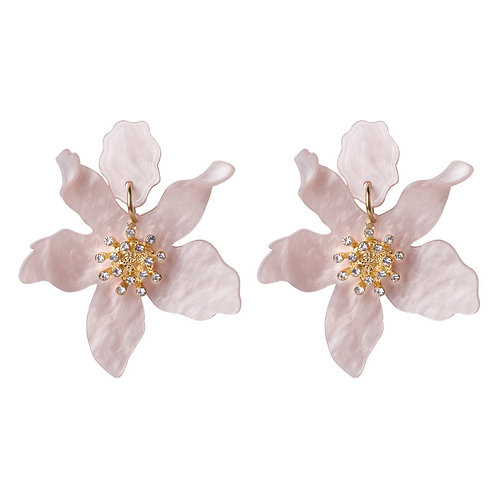 JASMINE EARRINGS BABY PINK