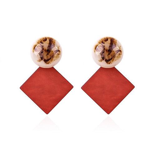 ROUS EARRINGS RED