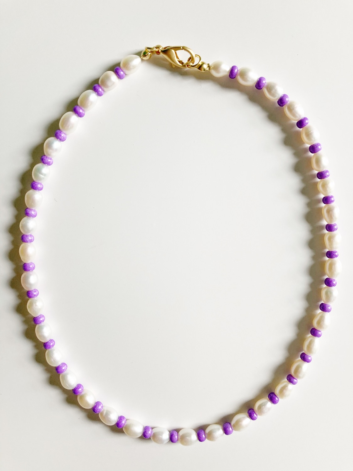 LILAC PEARL NECKLACE