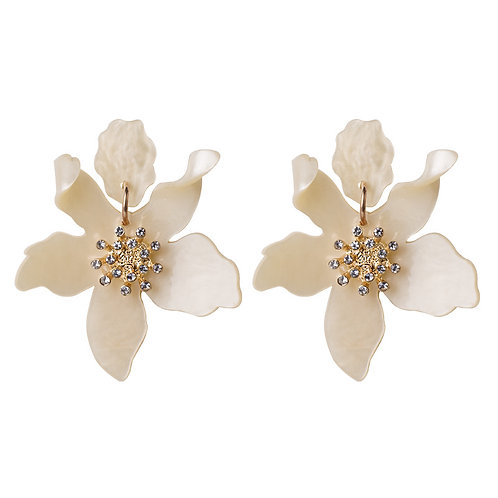 JASMINE EARRINGS CREAM