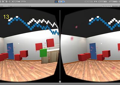 GGJ 2017'de hazırladığım VR oyununun oynanış görüntüsü.