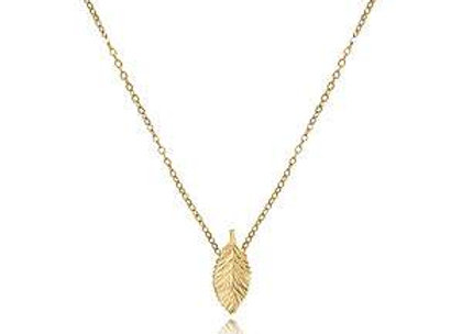 14karat Yellow Gold Leaf Necklace