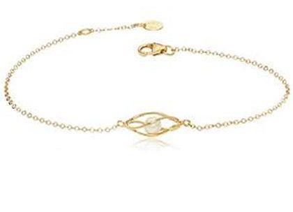 14k Gold Pearl Bracelet
