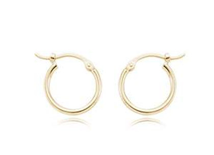 14k Gold 12mm Hoops