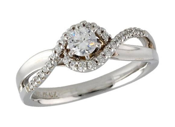 14k Gold Diamond Engagement Set