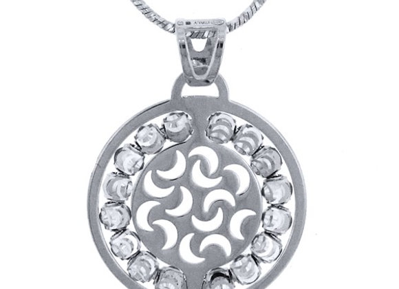 Sterling Silver Sole Disc Pendant