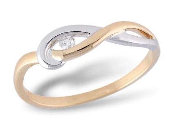 14k Gold Diamond Twist Ring
