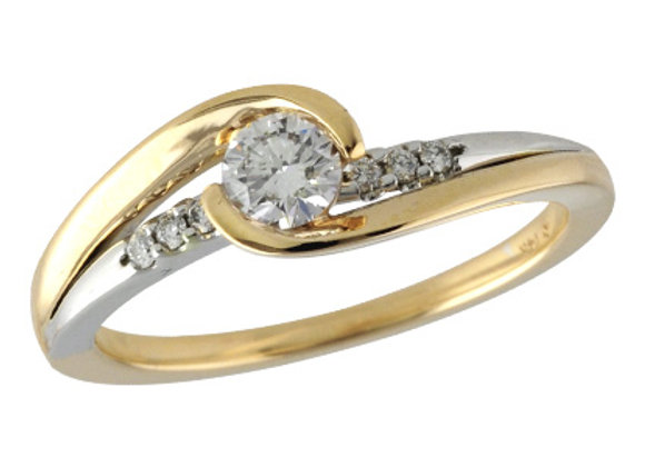 14k Gold Diamond Engagement Set