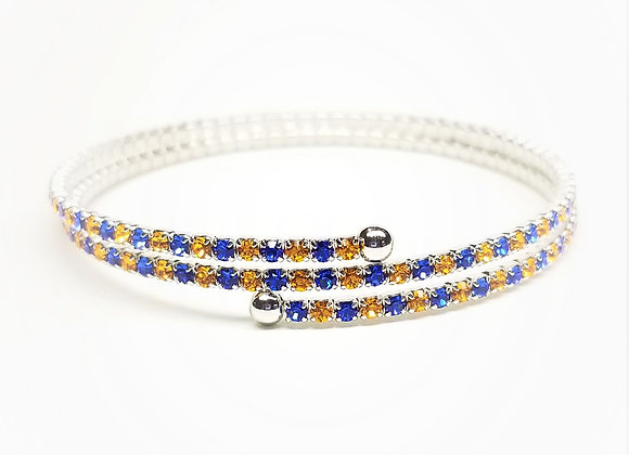Orange & Blue 2 Row Twistals Bracelet