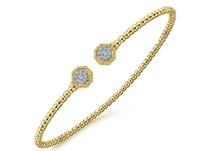 14k Gold Flex Diamond Bangle