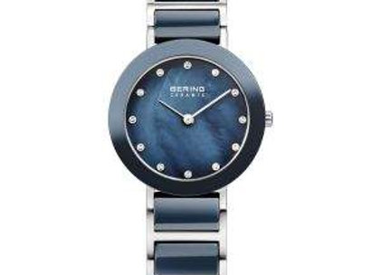 Ladies Blue Ceramic & Stainless Steel