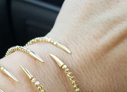 Sterling & Yellow Gold Claw Vermeil Bracelet