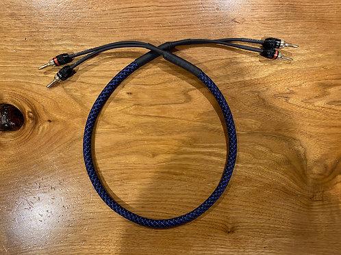 Single Audiophile Speaker Cable 12/2 Sleeved W/ Sewell Plugs KnuKonceptz