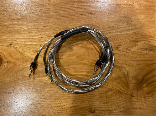 Single Audiophile Speaker Cable 12 Gauge W/ Sewell Banana Plugs KnuKonceptz