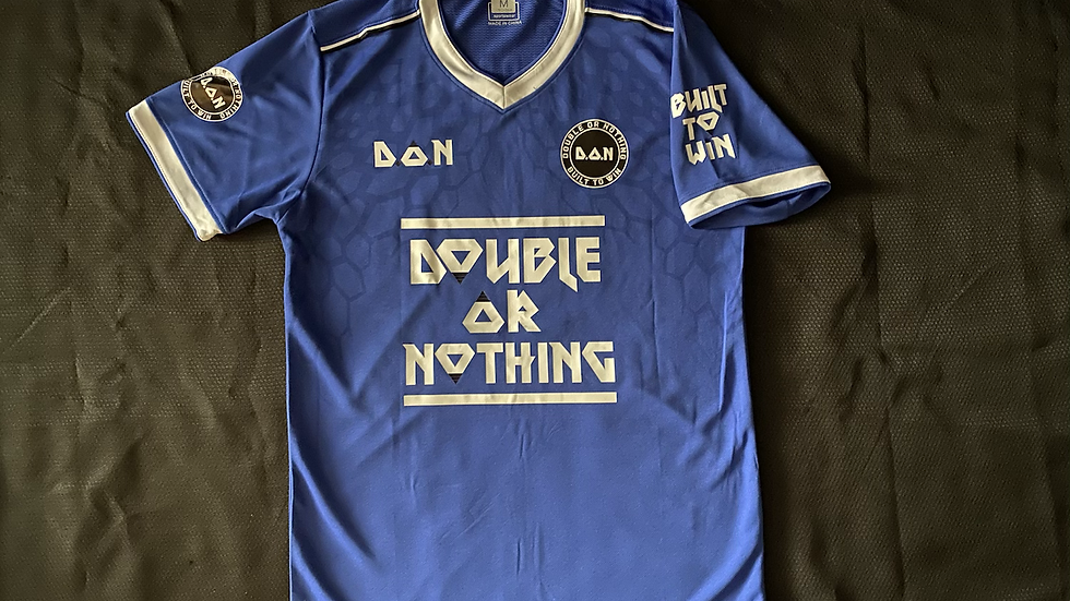 """Royal Blue Double Or Nothing™️ """"Built To Win"""" Soccer Jersey"""