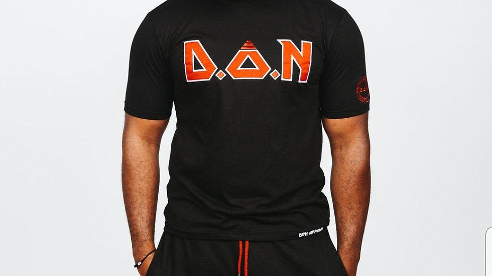 "Black/Red ""Acronym"" T-Shirt/Shorts Set"