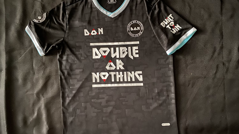 """Black Double Or Nothing™️ """"Built To Win"""" Soccer Jersey"""