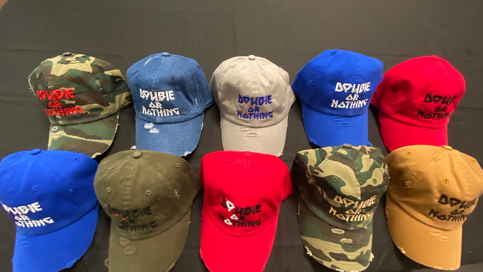 Double Or Nothing™️ Distressed Dad hats
