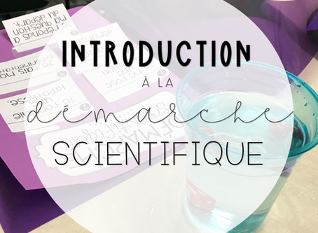 Introduction à la démarche scientifique
