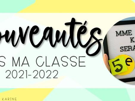 Nouveautés dans ma classe - 2021-2022