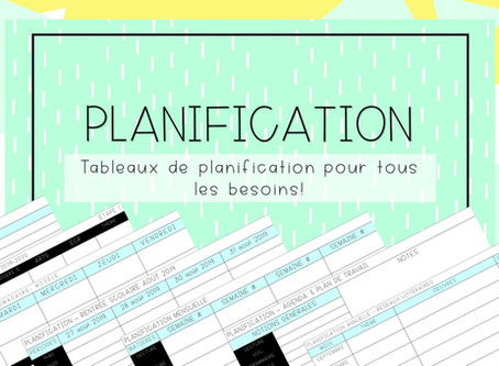 Planification & cie