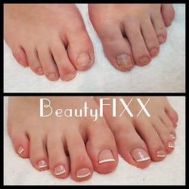 Toes with French Polish