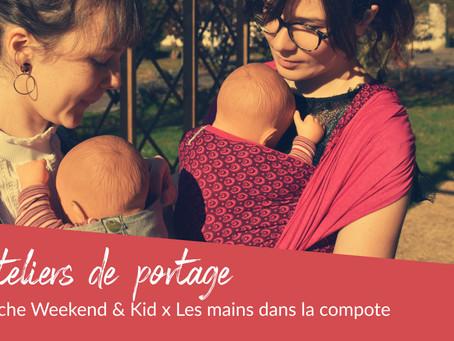 Les ateliers de portage s'invitent à la crèche Weekend & Kid !