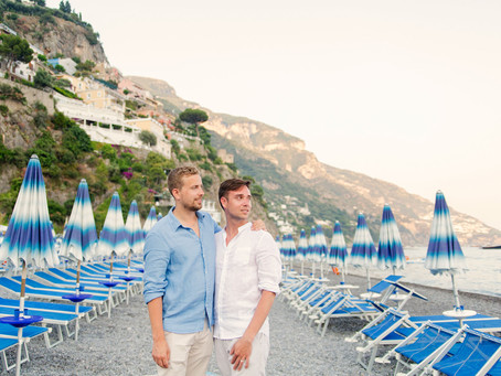 Post engagement shoot in Positano