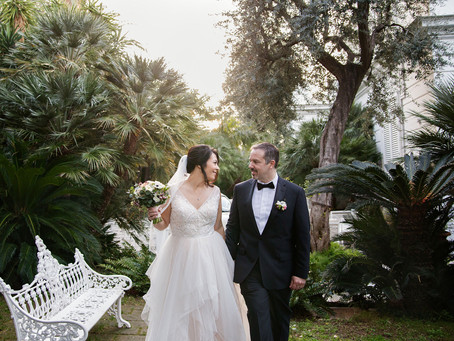 An intimate winter wedding in Sorrento, Italy
