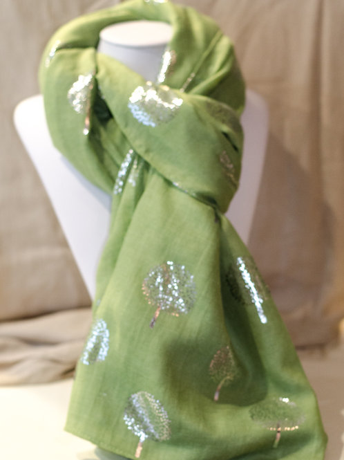 Green Mulberry Tree Scarf