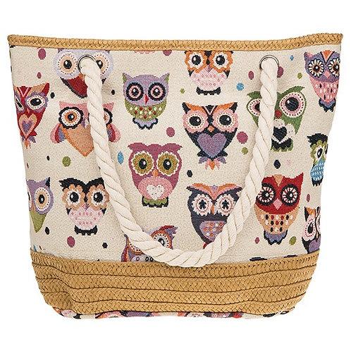 Owl Shopper Bag .  Postage free