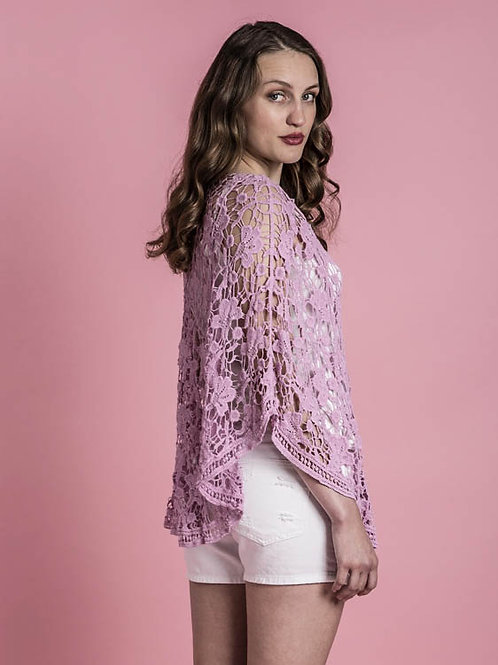 Lilac Lace Top