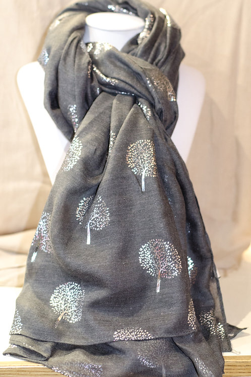 Mulberry Scarf Dark Grey