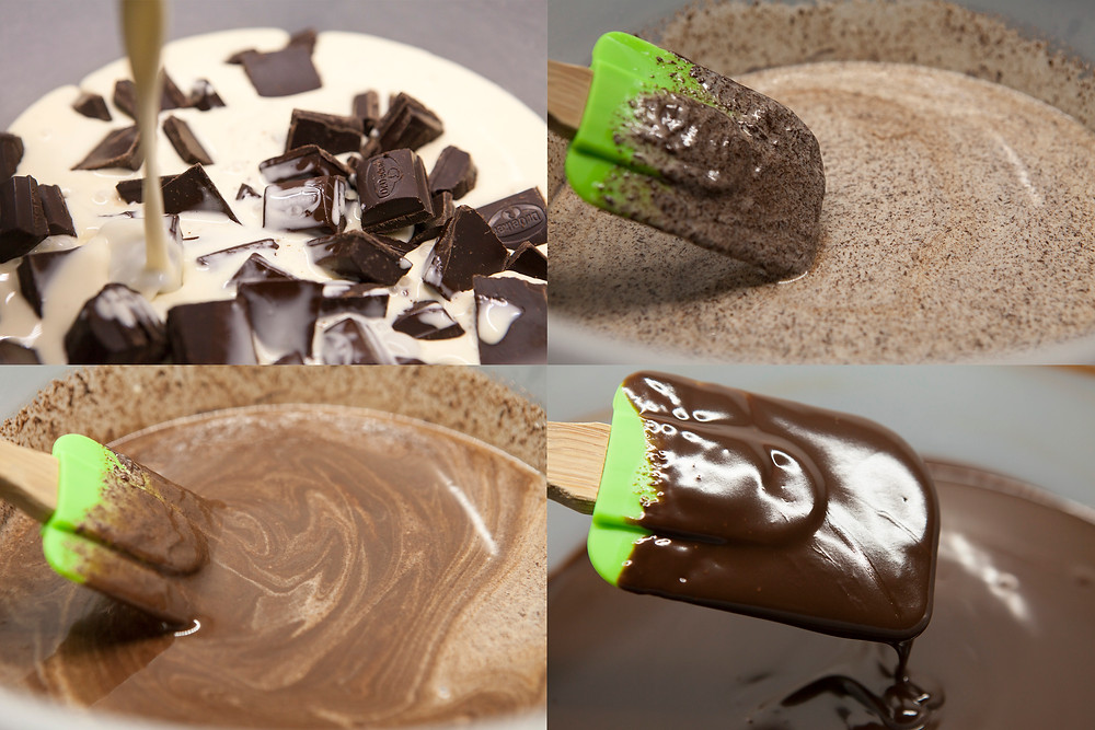 Process of making ganache