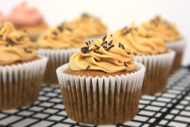Recipe Testing Tuesdays: Banana Cupcakes with Peanut Butter Frosting