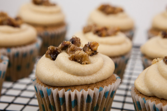 Recipe Testing Tuesdays: Coffee Walnut Cupcakes