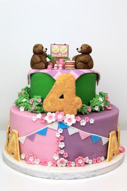 Tiered birthday cakes