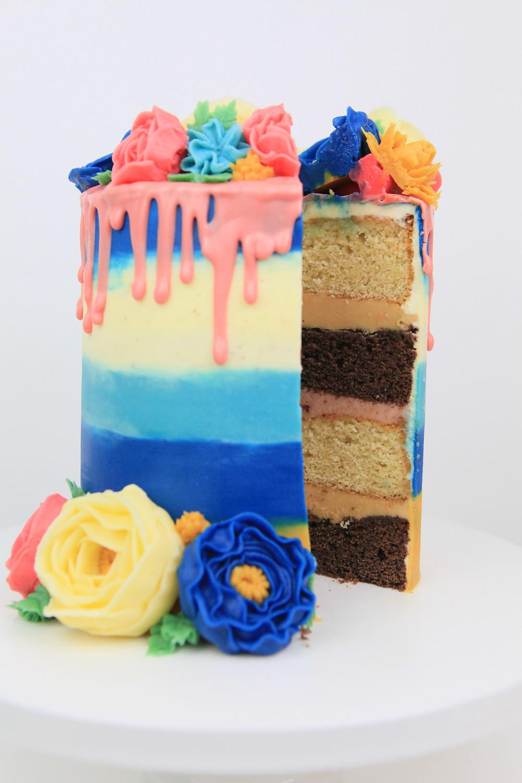 Layer cake cut up